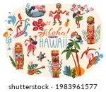 hawaii aloha tropical summer... | Shutterstock .eps vector #1983961577