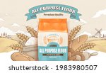 all purpose flour banner ad....   Shutterstock .eps vector #1983980507