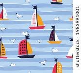 summer seamless pattern with...   Shutterstock . vector #1983991001