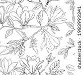 flower pattern magnolia. vector ... | Shutterstock .eps vector #1983993341
