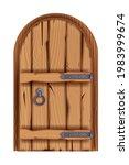old wooden castle door  vector... | Shutterstock .eps vector #1983999674