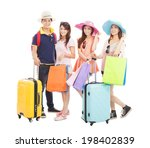 young people travel worldwide... | Shutterstock . vector #198402839