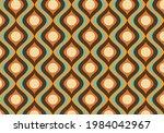 70s retro groovy wavy pattern  | Shutterstock .eps vector #1984042967