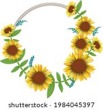 Wreath Of Sunflowers With Space ...