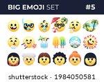 emoji emoticons set isolated.... | Shutterstock .eps vector #1984050581