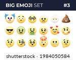 emoji emoticons set isolated.... | Shutterstock .eps vector #1984050584