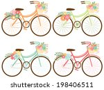 spring bicycles  1 | Shutterstock .eps vector #198406511