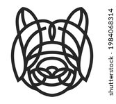 silhouette of panda head from...   Shutterstock .eps vector #1984068314