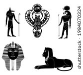 black silhouettes of the... | Shutterstock .eps vector #1984070324