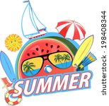 summer sunny day  | Shutterstock .eps vector #198408344