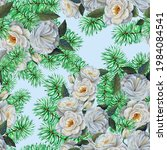 seamless pattern watercolor... | Shutterstock . vector #1984084541