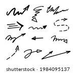 vector set of hand drawn arrows ...   Shutterstock .eps vector #1984095137