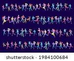people marathon running sport...   Shutterstock .eps vector #1984100684