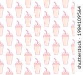 vector slush drink seamless... | Shutterstock .eps vector #1984109564