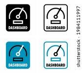 """dashboard"" control panel... | Shutterstock .eps vector #1984111997"