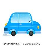 blue cartoon car. the auto...   Shutterstock . vector #1984118147