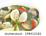 tom yum or tom yam is a spicy... | Shutterstock . vector #198412181