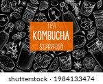 kombucha tea and ingredients... | Shutterstock .eps vector #1984133474