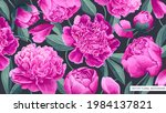 large floral background with...   Shutterstock .eps vector #1984137821