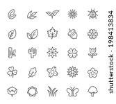 set of outline stroke natural... | Shutterstock .eps vector #198413834