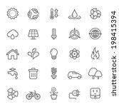 set of outline stroke ecology... | Shutterstock .eps vector #198415394