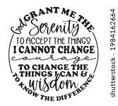 god grant me the serenity to... | Shutterstock .eps vector #1984162664