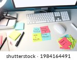 creative office desk station....   Shutterstock . vector #1984164491