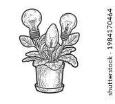 light bulb idea plants flowers... | Shutterstock .eps vector #1984170464