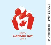 happy canada day background... | Shutterstock .eps vector #1984187327