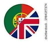 round icon with portugal and... | Shutterstock .eps vector #1984197374