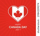happy canada day red background ... | Shutterstock .eps vector #1984209074