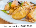 fried chicken wings | Shutterstock . vector #198422201