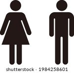 man and woman icon flat vector... | Shutterstock .eps vector #1984258601