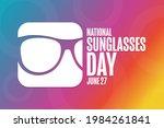 national sunglasses day. june... | Shutterstock .eps vector #1984261841