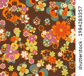 colorful floral vector seamless ...   Shutterstock .eps vector #1984283357