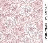 line art pink seamless pattern...   Shutterstock .eps vector #1984294874