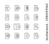 mobile apps related icons  thin ... | Shutterstock .eps vector #1984295564