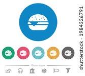 single cheeseburger flat white... | Shutterstock .eps vector #1984326791