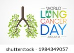 world lung cancer day is...   Shutterstock .eps vector #1984349057