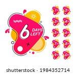 number of days left. countdown... | Shutterstock .eps vector #1984352714