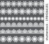 floral lace ornaments set. lase ... | Shutterstock .eps vector #1984366181