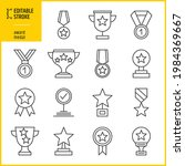 medal and award icons. editable ... | Shutterstock .eps vector #1984369667