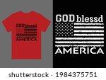god bless america t shirt... | Shutterstock .eps vector #1984375751
