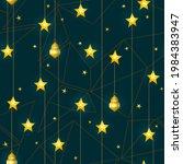 vector golden seamless pattern... | Shutterstock .eps vector #1984383947