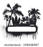 surf grunge beauty summer banner | Shutterstock .eps vector #198438587