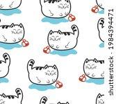 the cat knocked over the mug....   Shutterstock .eps vector #1984394471
