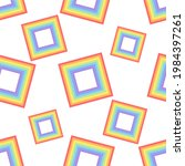 a pattern of rainbow squares...   Shutterstock . vector #1984397261