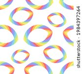 rainbow circles pattern for...   Shutterstock .eps vector #1984397264