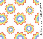 rainbow circles pattern for...   Shutterstock . vector #1984397267