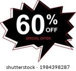 60  off special offer. banner... | Shutterstock .eps vector #1984398287